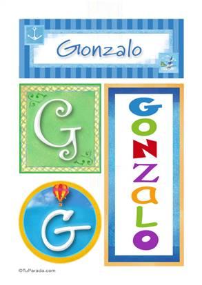 Gonzalo, nombre, imagen para imprimir