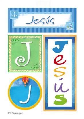 Jesús, nombre, imagen para imprimir