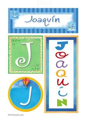 Joaquín, nombre, imagen para imprimir
