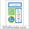 Leonel, nombre, imagen para imprimir