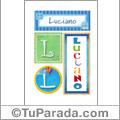 Luciano, nombre, imagen para imprimir