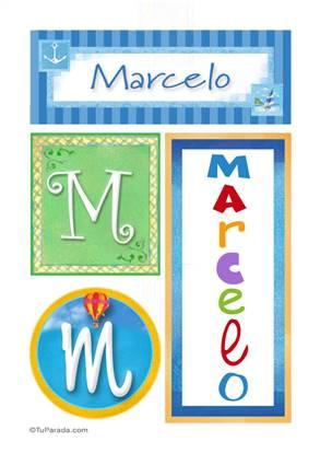 Marcelo, nombre, imagen para imprimir