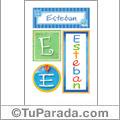 Esteban, nombre, imagen para imprimir