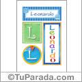 Leonardo, nombre, imagen para imprimir