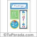 Rodrigo, nombre, imagen para imprimir