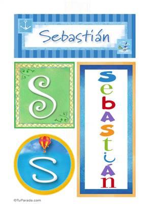 Sebastián, nombre, imagen para imprimir