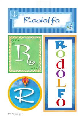 Rodolfo, nombre, imagen para imprimir