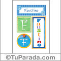 Faustino, nombre, imagen para imprimir