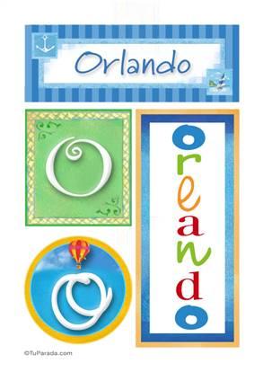 Orlando, nombre, imagen para imprimir