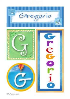 Gregorio, nombre, imagen para imprimir