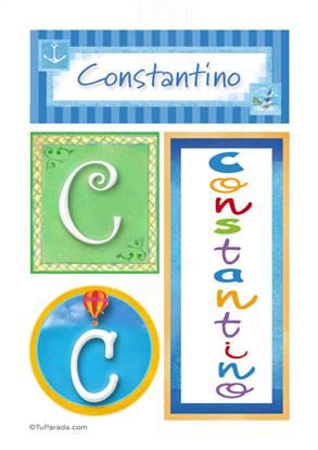Constantino, nombre, imagen para imprimir