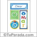 Omar, nombre, imagen para imprimir
