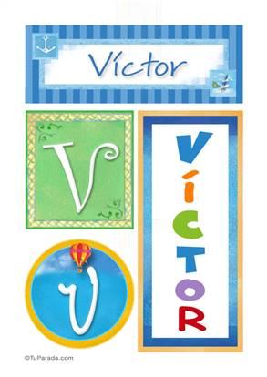 Victor, nombre, imagen para imprimir