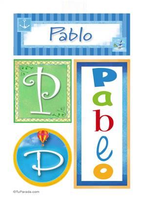 Pablo, nombre, imagen para imprimir