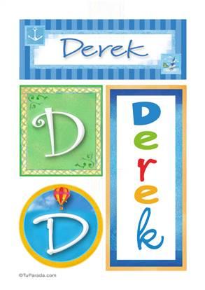Derek, nombre, imagen para imprimir