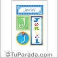 Jeriel, nombre, imagen para imprimir