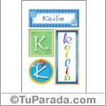 Keilin, nombre, imagen para imprimir