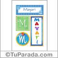 Mayari, nombre, imagen para imprimir
