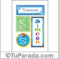 Simeon, nombre, imagen para imprimir