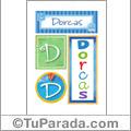 Dorcas, nombre, imagen para imprimir