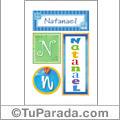 Natanael, nombre, imagen para imprimir
