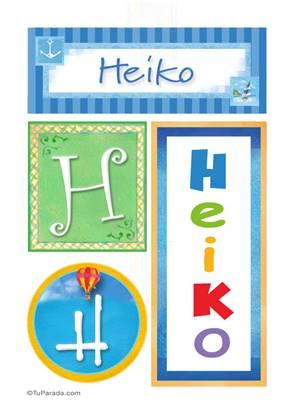 Heiko, nombre, imagen para imprimir