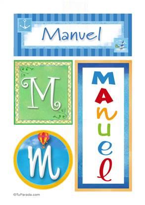 Manuel, nombre, imagen para imprimir