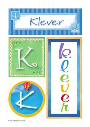 Klever, nombre, imagen para imprimir