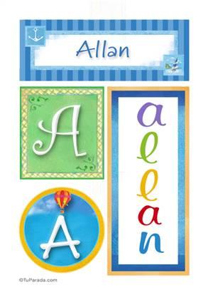 Allan, nombre, imagen para imprimir