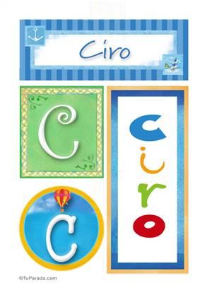 Ciro, nombre, imagen para imprimir
