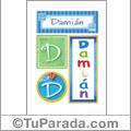 Damián, nombre, imagen para imprimir