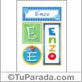 Enzo, nombre, imagen para imprimir