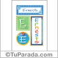 Ernesto, nombre, imagen para imprimir