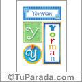 Yorman, nombre, imagen para imprimir