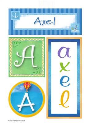 Axel, nombre, imagen para imprimir