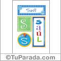 Saúl, nombre, imagen para imprimir
