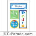Pedro, nombre, imagen para imprimir