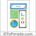 Leo, nombre, imagen para imprimir