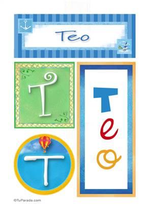 Teo, nombre, imagen para imprimir