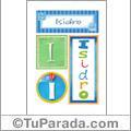 Isidro, nombre, imagen para imprimir