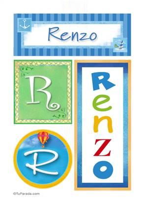 Renzo, nombre, imagen para imprimir