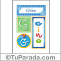 Gino, nombre, imagen para imprimir