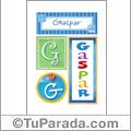 Gaspar , nombre, imagen para imprimir