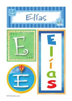 Elías, nombre, imagen para imprimir