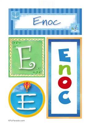 Enoc, nombre, imagen para imprimir