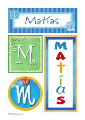 Matías, nombre, imagen para imprimir