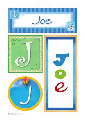 Joe, nombre, imagen para imprimir