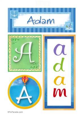 Adam, nombre, imagen para imprimir