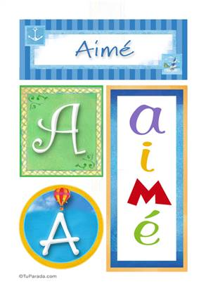 Aimé, nombre, imagen para imprimir