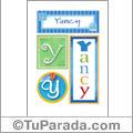 Yancy, nombre, imagen para imprimir